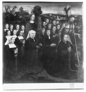 Portretten van  Joris van de Velde, zijn vrouw Barbara Le Marie en hun kinderen met de heiligen Joris en Barbara