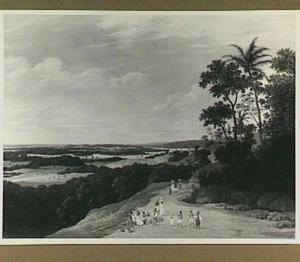 Weids Braziliaans landschap met in de verte een rivier
