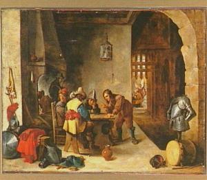 Wachtlokaal met de bevrijding van Petrus uit de gevangenis (Hand.12:8)