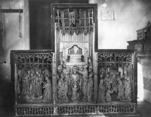 Drie scènes uit het leven van de H. Martinus van Tours (?)