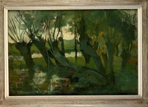 Willow grove, trunks leaning left I