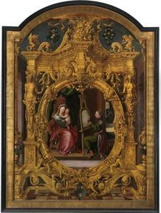 De H. Lukas schildert de Madonna