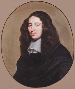 Portret van een man, ten halven lijve, met een gladde kraag met akertjes