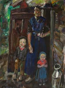 Staphorster boerin met kinderen