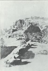In het park van castel Bomarzo