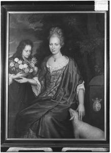 Familieportret van Joanna Anna van Zwethen (?-1697) en Gerardus Wilhelmus Josephus van der Heyden (1688-1732)