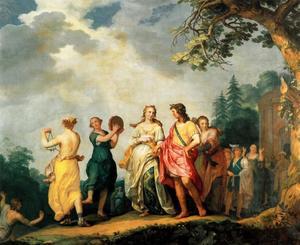 De bruiloft van Amarillis en Mirtillo