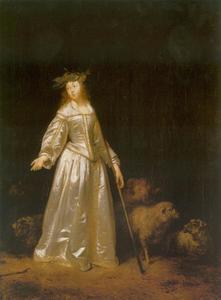 Een herderin