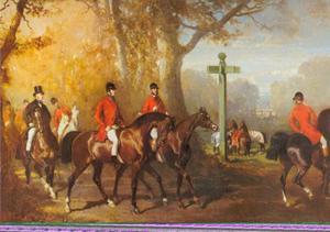 Het jachtgezelschap van Malmifait, Gustave en Ernest Odiot, Maïtres d' Equipage