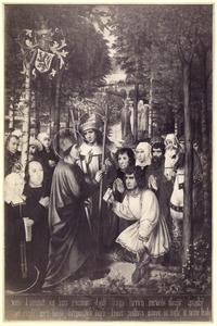 Reeks van 25 panelen uit het leven van de H. Rombout: De ontmoeting tussen de H. Rombout en de H. Gommarus