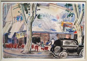 Straatscène in Avignon