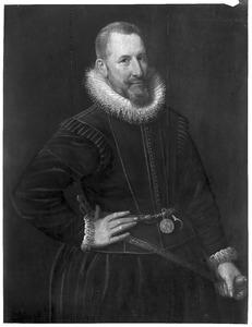 Portret van Idzerd Sirtema van Grovestins ( -1613)