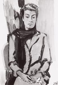 Portret van Elly Tilly Haaksma