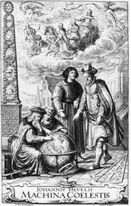 Frontispice voor 'Machina Coelestis' (1673) van Johannes Hevelius