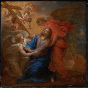 Christus wake in de Hof der Olijven te Getsemane