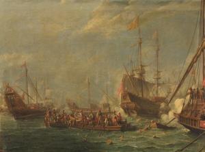 Zeeslag tussen Turken en Maltezen