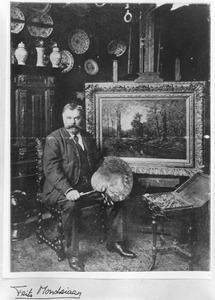 Frits Mondriaan in zijn atelier