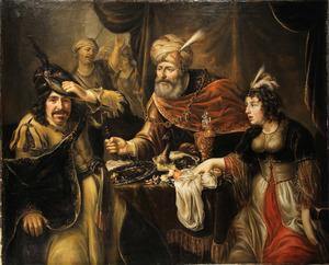 Ester beschuldigt Haman voor Ahasveros (Ester 7:3-4)