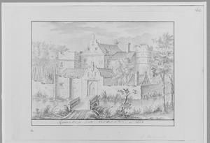 Voorzijde Van Rosenburgh bij Voorschoten anno 1603
