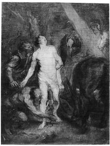 De H. Sebastiaan wordt aan een boom gekluisterd