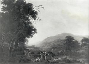 Italianiserend landschap met Diana op jacht
