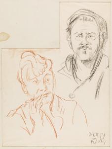 Portret van de kunstschilder Frans Hazeveld en zijn vrouw Germaine