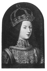 Portret van Eleonora van Portugal (1436(?)-1467)