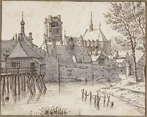 De Brandpoort en de St. Gertrudiskerk te Geertruidenberg