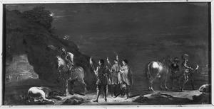Soldaten en ruiters bij nacht (ongeïdentificeerde Bijbelse scène)