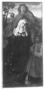 Altaarstuk met de Zeven Smarten van Maria: Mater Dolorosa (middenpaneel, onder)