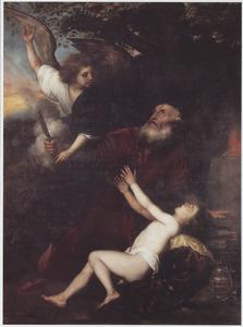 De engel verhindert Abraham om Isaak te offeren  (Genesi 22:11-12)