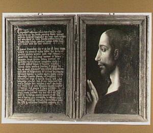 De zogenaamde Lentulus-brief (links) en de zegenende Christus (rechts)
