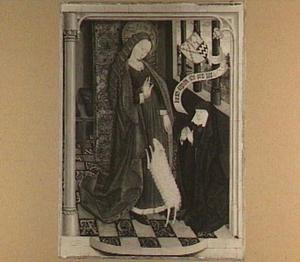 De H. Agnes met Geertruy Haeck-van Slingelandt van der Tempel (ca. 1425-1467)