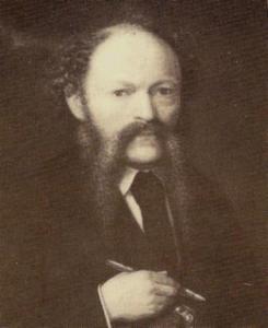 Zelfportret van Thomas Carolus van Uden (1826-1882)