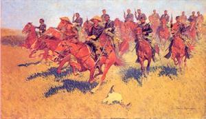 Cavaleriecharge op de zuidelijke vlakten