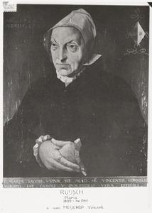 Portret van een vrouw, waarschijnlijk Maria Ruysch (1499-1556)
