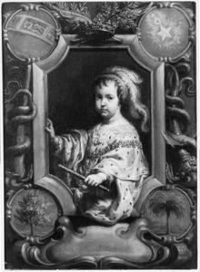 Portret van Philippe de Bourbon, Duc d'Anjou, Duc d'Orléans (1640-1701), broer van Lodewijk XIV, als kind met de Ordre du Saint Esprit