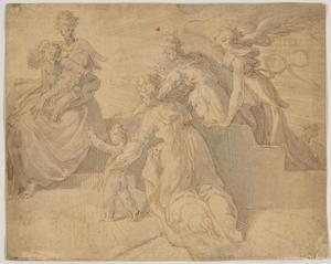 Maria, Elizabeth, hun kinderen en een derde vrouwelijke heilige