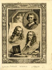Portretten van Gerbrand van den Eeckhout (1621-1674), Wallerant Vaillant (1623-1677) en Jacques Vaillant (1643-1691)