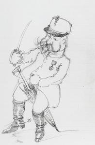 Portret van Frederik Adolf Hoefer (1850-1938)