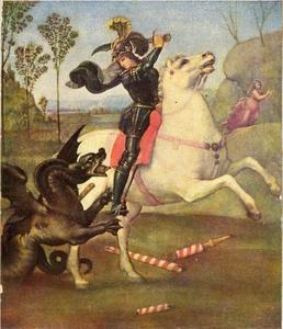 Sint Joris vechtend met de draak