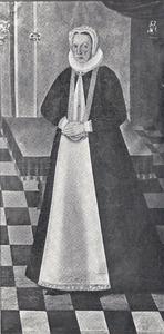 Portret van Karen Rostrup († 1636), echtgenote van Peder Reedtz