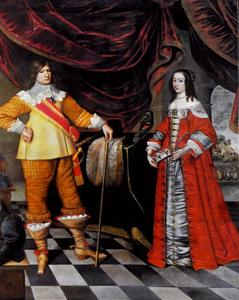 Dubbelportret van Friedrich Wilhelm van Brandenburg (1620-1688) en Louise Henriëtte van Oranje-Nassau (1627-1667