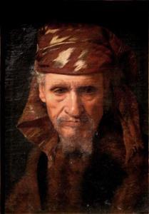 Portret van een man met een hoofddoek