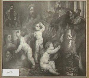 Compositie van verschillende kopieën naar Oude Meesters