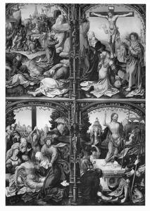 Christus in Gethsemane, de kruisiging, de bewening, de opstanding