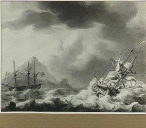 Twee schepen voor de kust