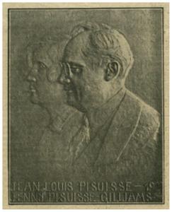 Portret van Jean Louis Pisuisse (1880-1927) en Joanna Jacoba Gilliams (1893-1927)