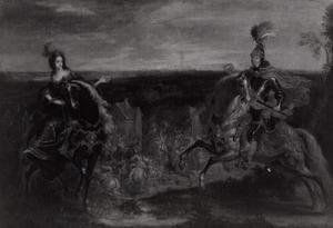 Ruiterportret van Willem II van Oranje-Nassau (1626-1650) en Mary I Stuart (1631-1661)