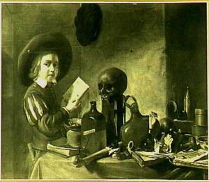Jonge chemicus in zijn laboratorium